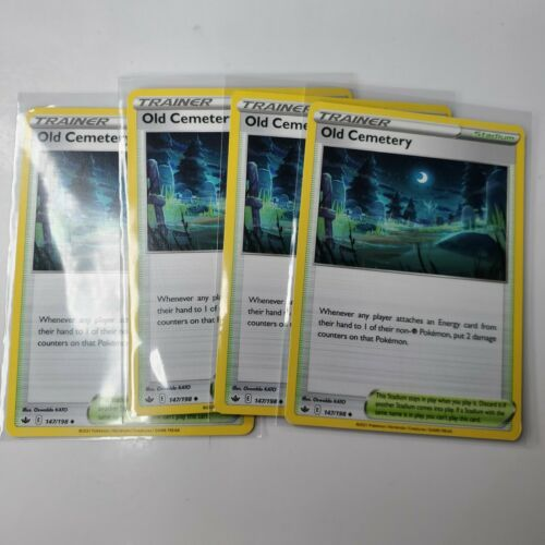 4x Old Cemetery 147/198 Non Holo Chilling Reign Stadium Cards
