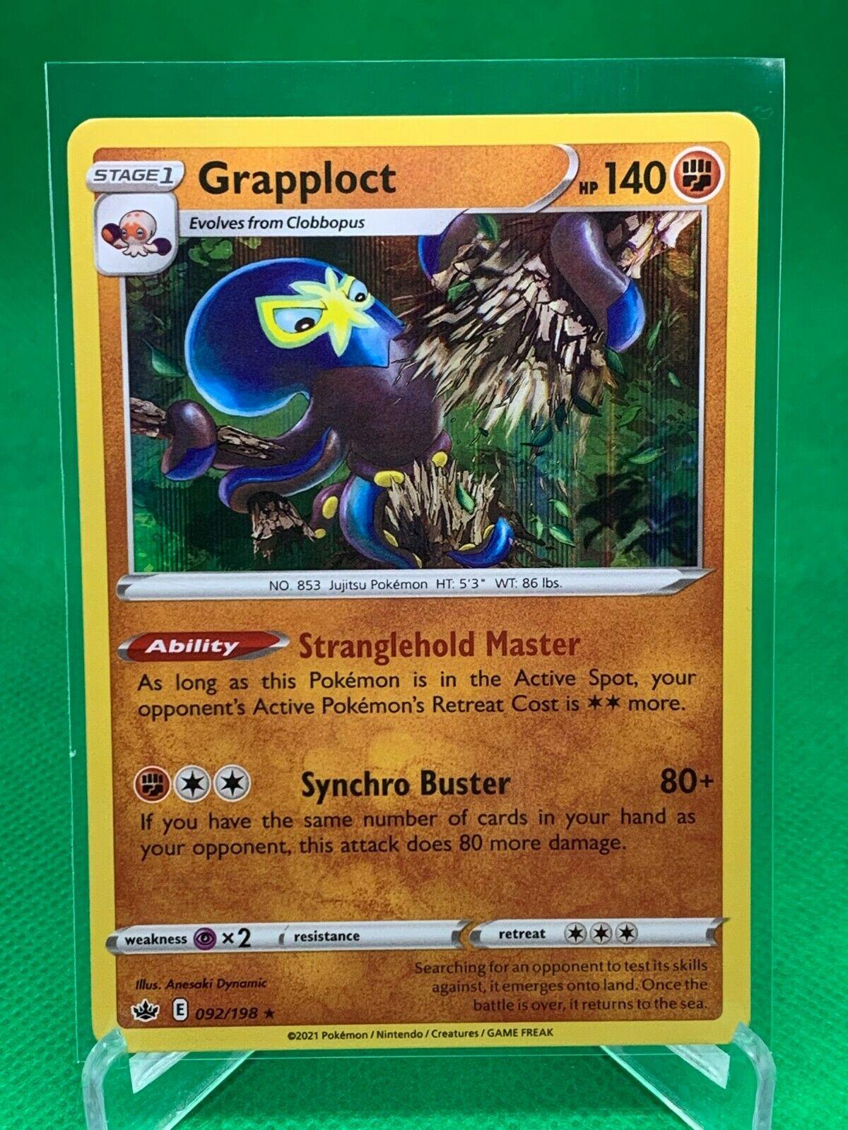 Pokemon - Grapploct - Chilling Reign - 092/198 - Holo Rare