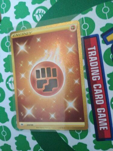 Pokemon Fighting Energy 233/198 Gold Secret Rare Chilling Reign - Image 2