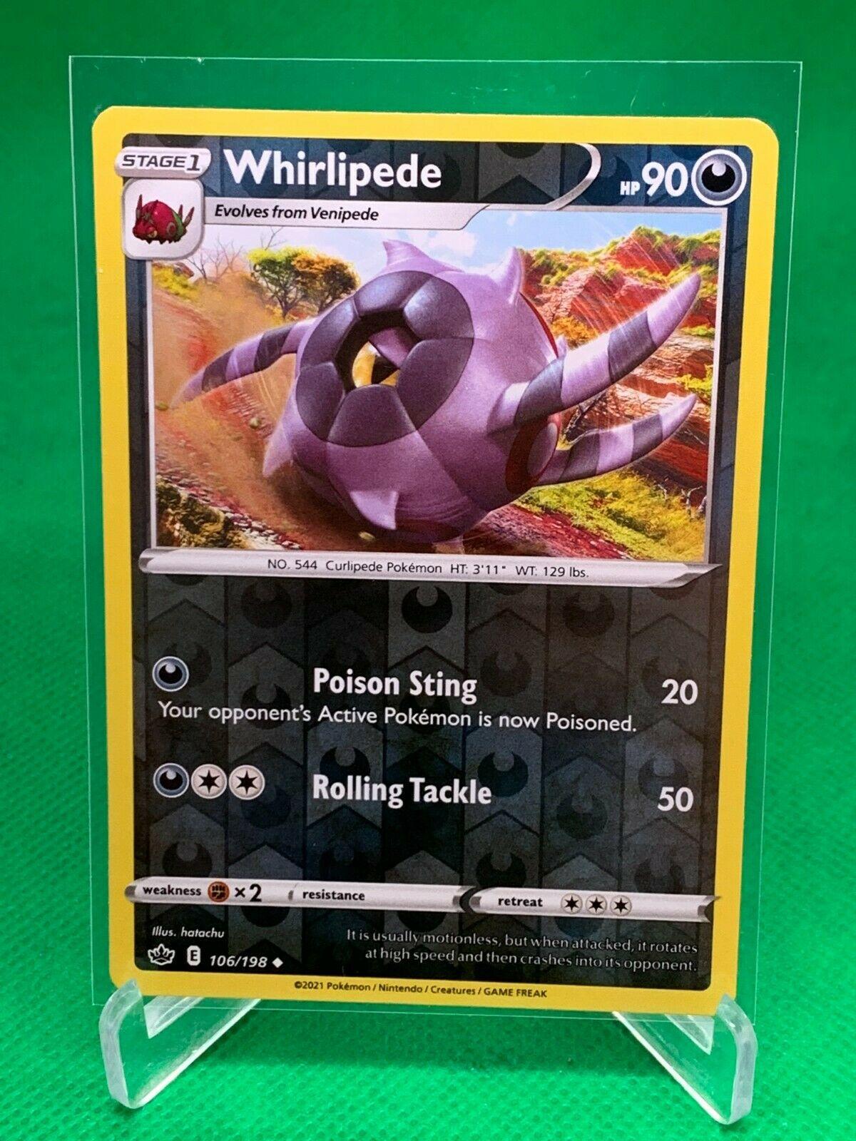 Pokemon - Whirlipede - Chilling Reign - 106/198 - Reverse Holo