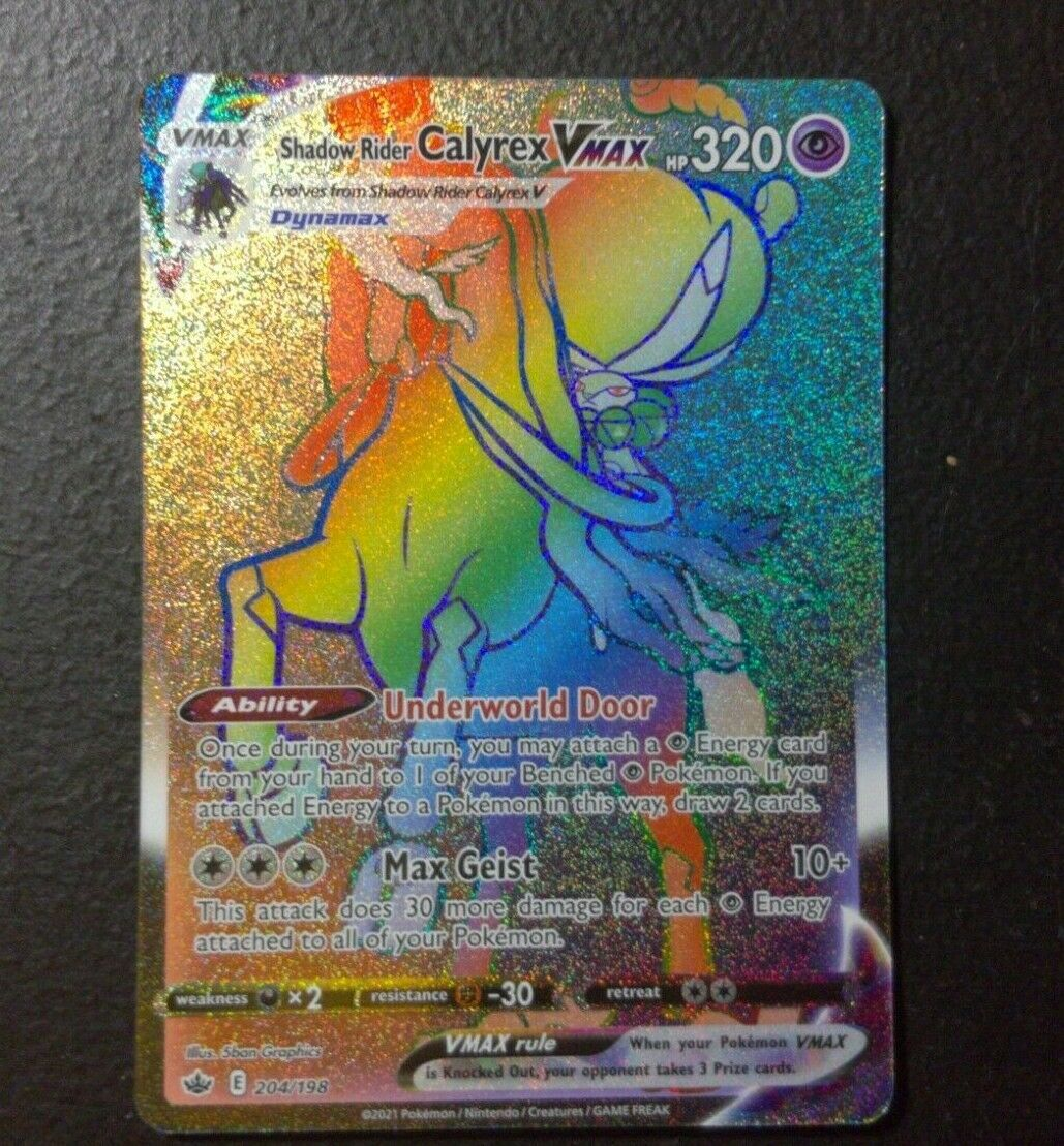 Shadow Rider CALYREX Vmax Chilling Reign Pokemon Cards #204/198