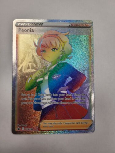 Peonia 219/198 Full Art Secret Rare Chilling Reign Rainbow Rare Pokémon Mint 🔥