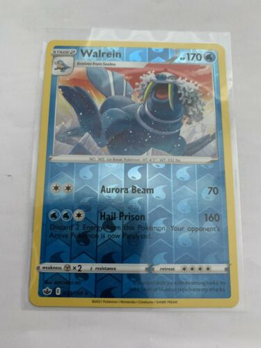 Pokemon Card Chilling Reign Walrein - 039/198 - Rare Reverse Holo NM/ Mint
