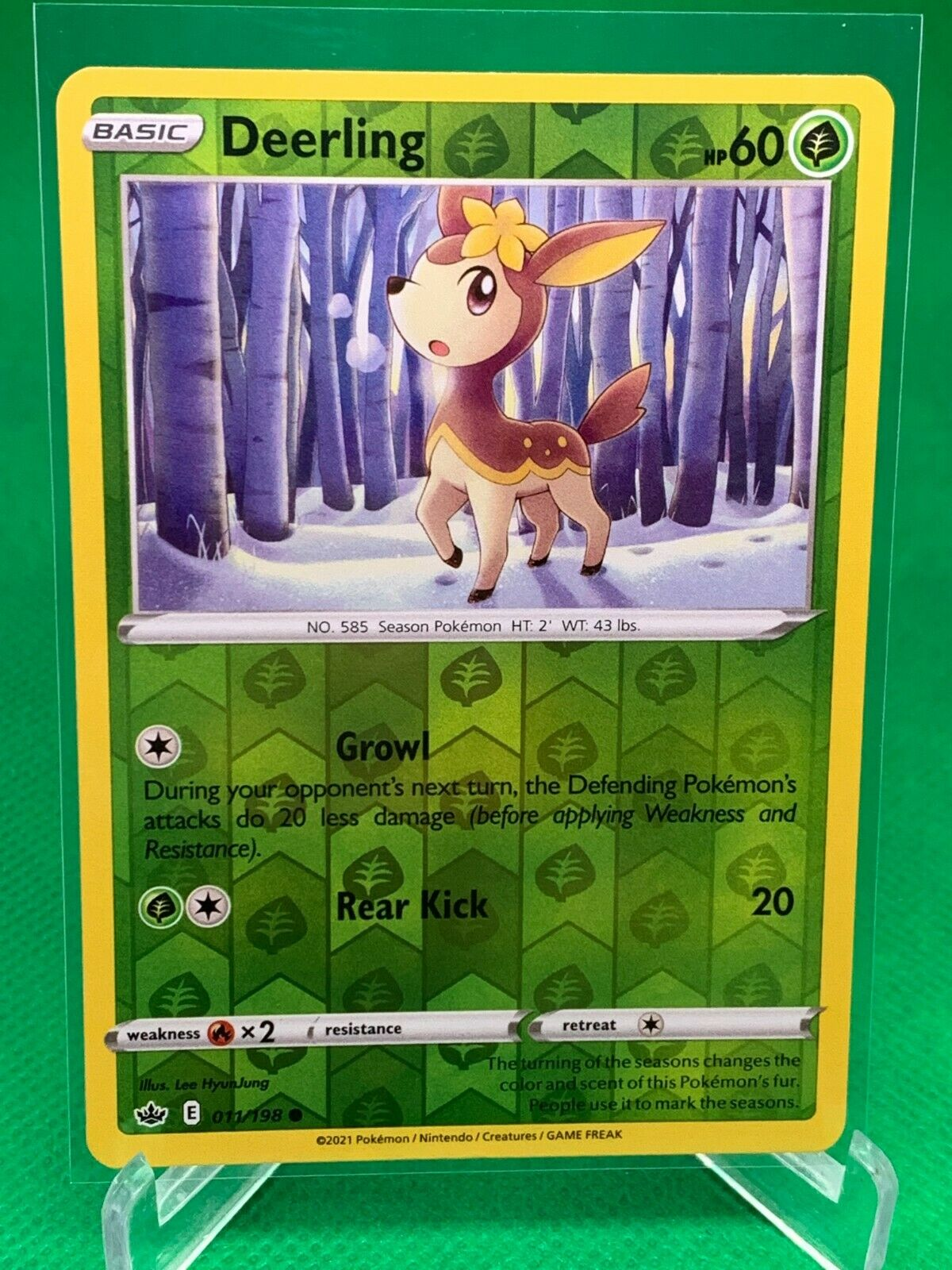 Pokemon - Deerling - Chilling Reign - 011/198 - Reverse Holo
