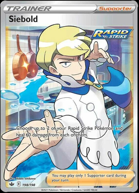 Pokemon Chilling Reign Siebold FULL ART 198/198 - MINT