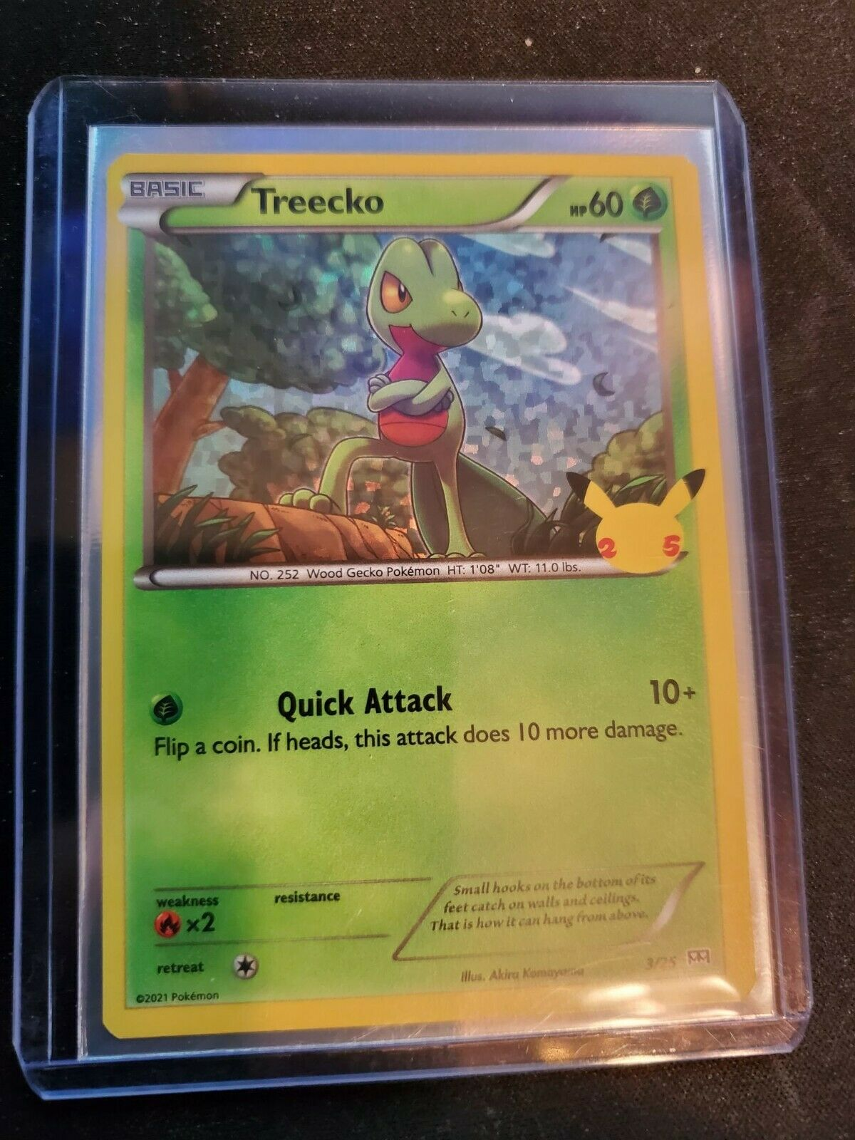 Pokemon Treecko Holo 25th Anniversary McDonald's Card 3/25 - Image 1