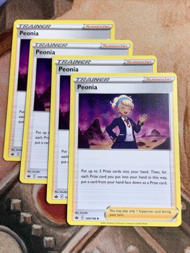 4x Peonia 149/198 Chilling Reign Pokemon NM