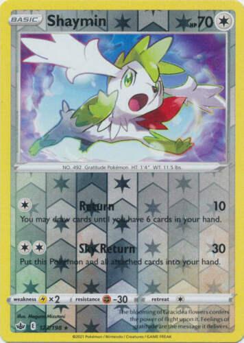 Pokemon - Shaymin - 123/198 - Reverse Holo Rare - Chilling Reign - NM/M