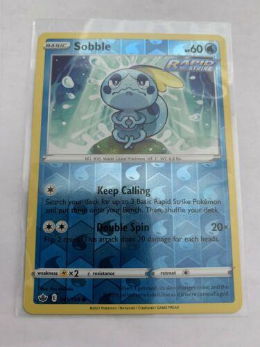 Pokemon Card Chilling Reign Sobble - 041/198 - Common Reverse Holo NM/ Mint