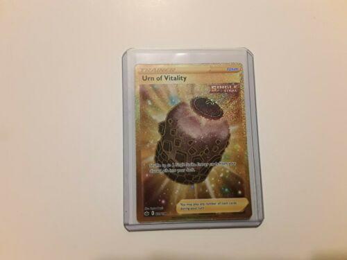 Pokemon Urn of Vitality 229/198 Gold Secret Rare Chilling Reign