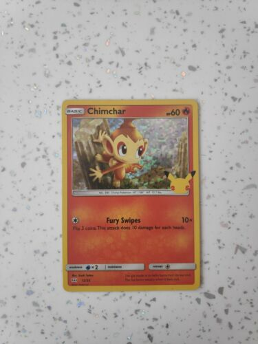McDonald's Pokémon Cards 2021 Chimchar Holo 12/25