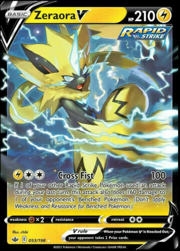 Zeraora V 053/198 Pokemon SWSH Chilling Reign Pokemon Card SHIPS FAST