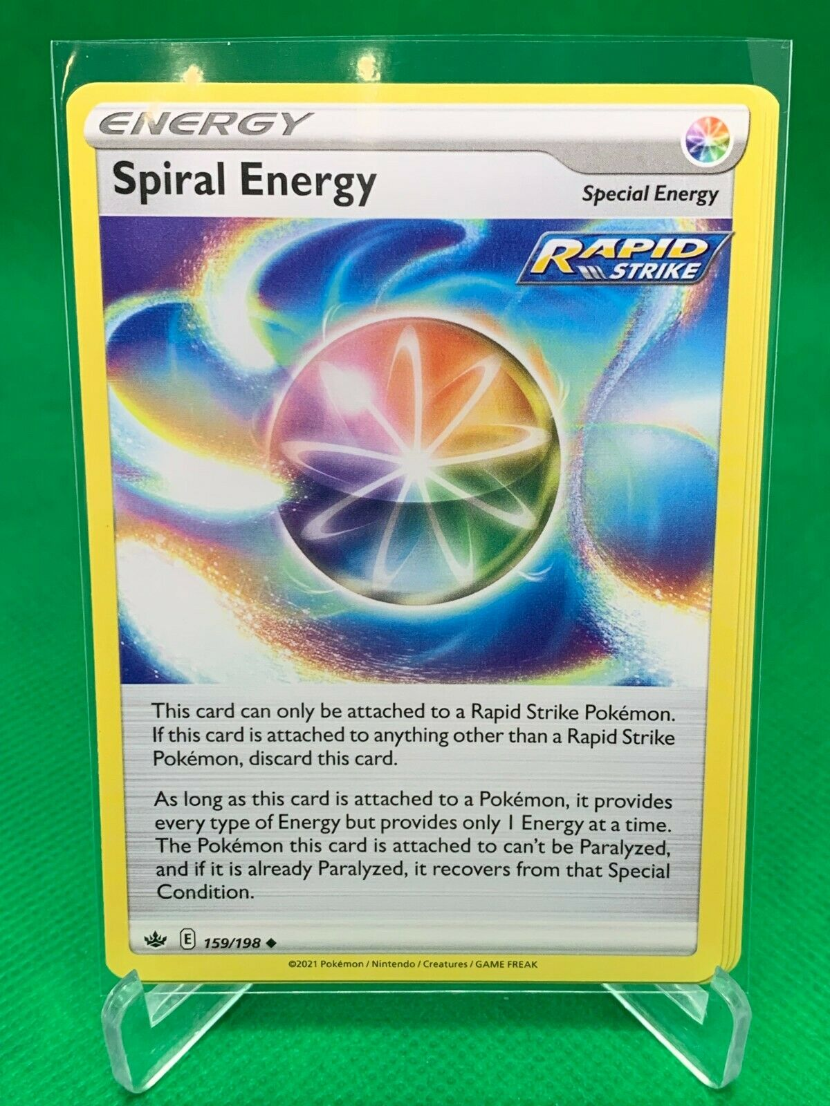 PLAYSET - Spiral Energy x4 - Chilling Reign - 159/198 - Trainer