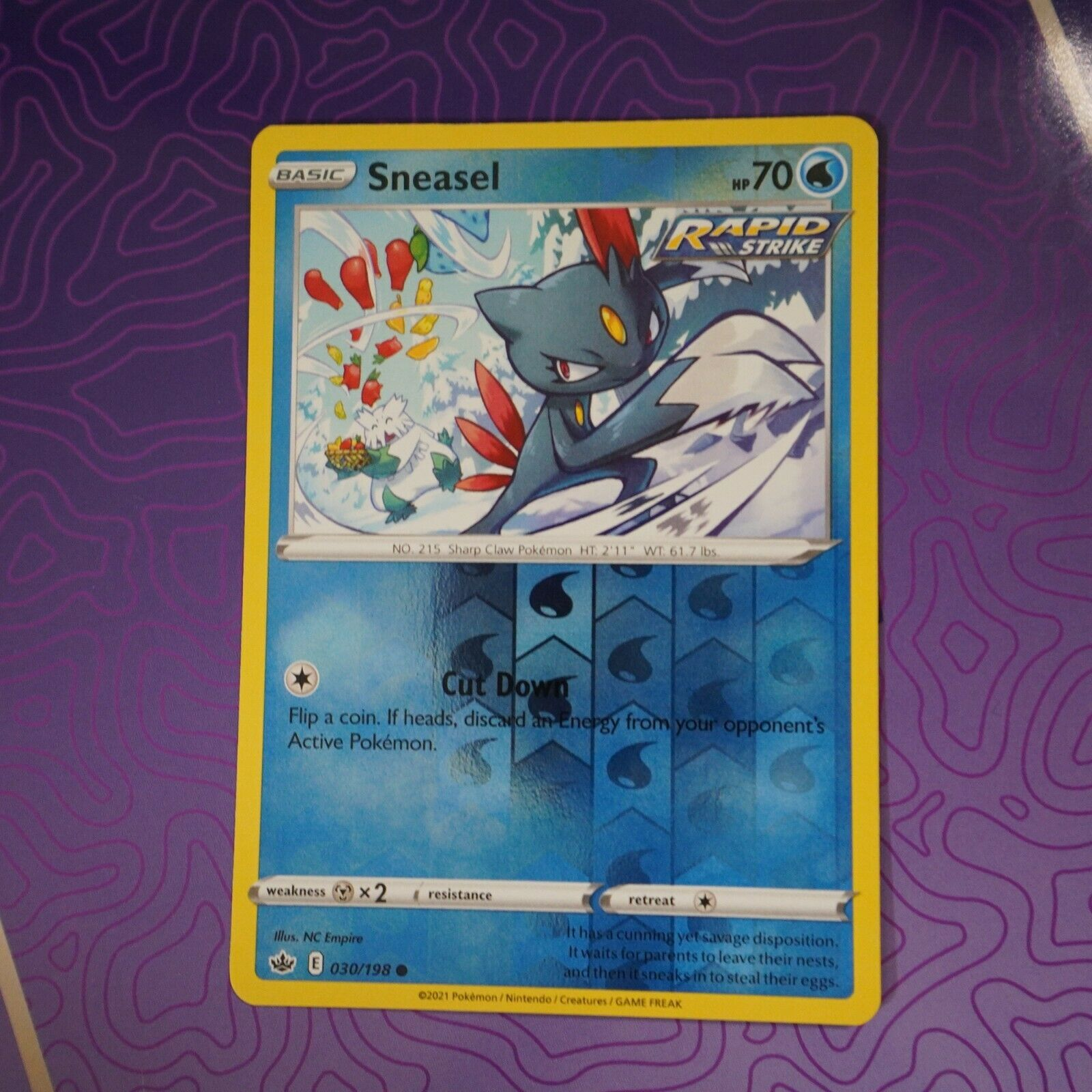 Sneasel 030/198 Reverse Holo NM | Chilling Reign
