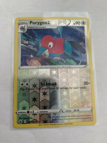 Pokemon Card Chilling Reign Porygon2 - 117/198 - Uncommon Reverse Holo NM/ Mint