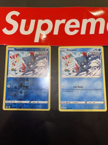 🔥X2 Pokemon - Sneasel - Chilling Reign - 030/198 - Reverse Holo / Common