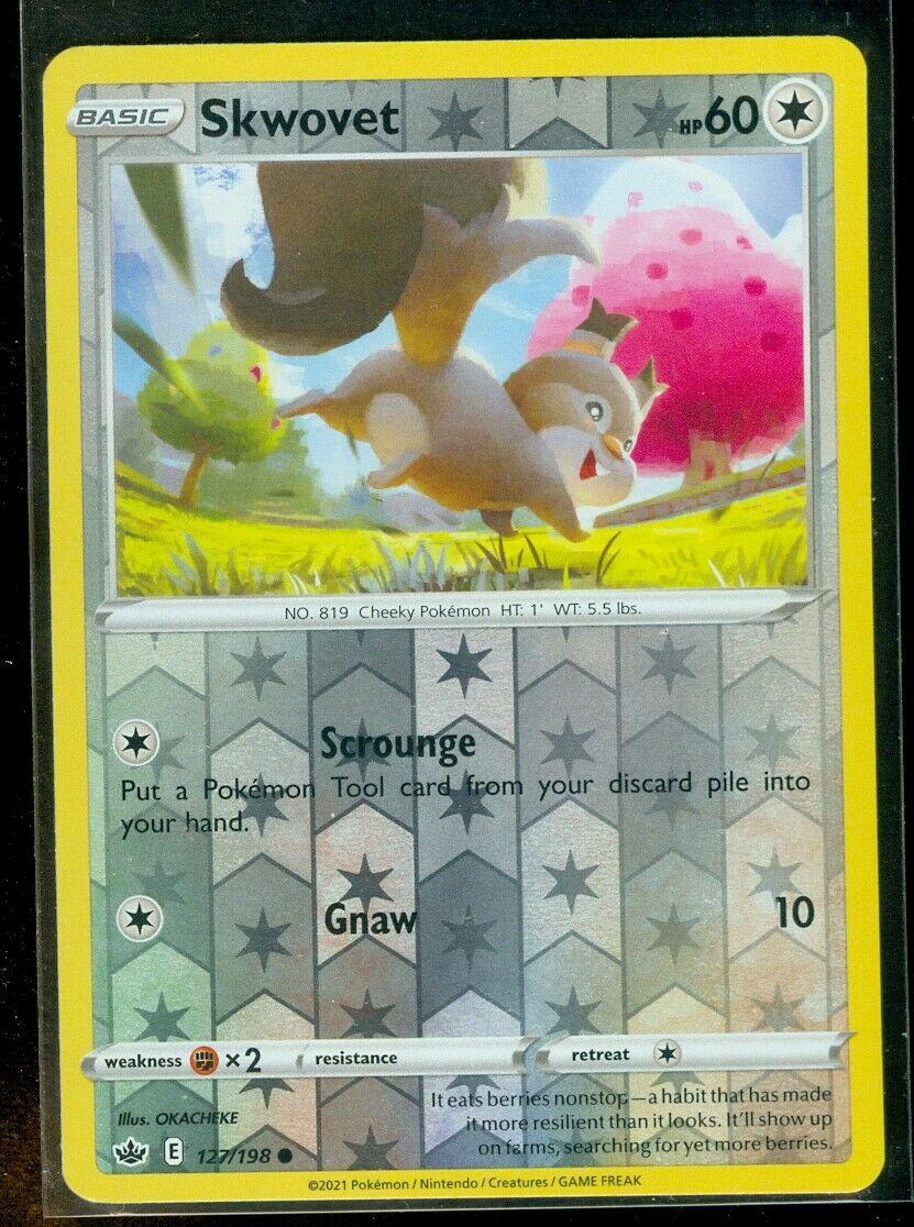 Pokemon SKWOVET 127/198 Chilling Reign - Rev Holo - - MINT