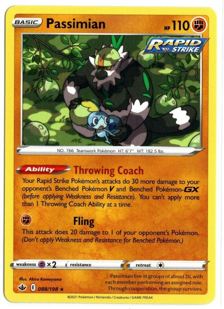 Pokemon TCG Chilling Reign - Passimian 088/198 NM/M - *Brand New*