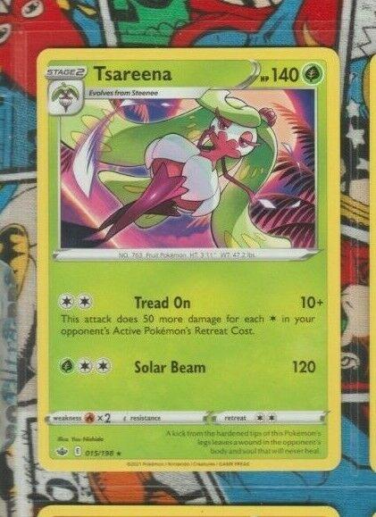 RARE Tsareena 015/198 Chilling Reign Pokemon trading card game