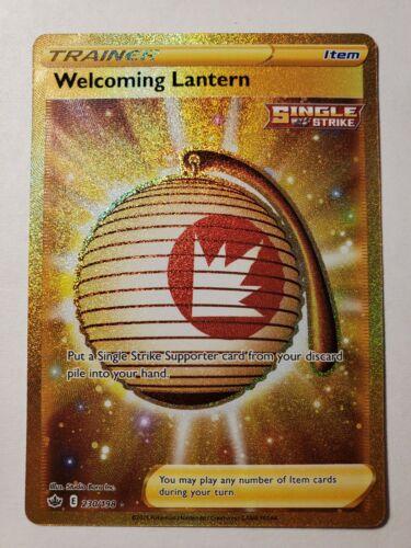Welcoming Lantern 230/198 Gold Secret Rare Pokémon Chilling Reign NM