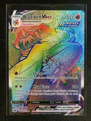 Pokemon 200/198 Blaziken VMAX Chilling Reign Hyper Rare