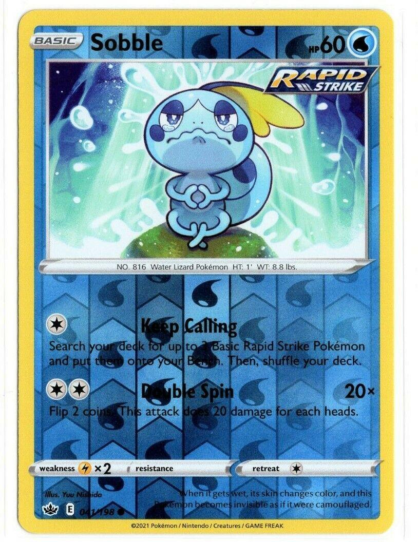 Pokemon TCG Chilling Reign - Sobble 041/198 NM/M - Reverse Holo - *Brand New*