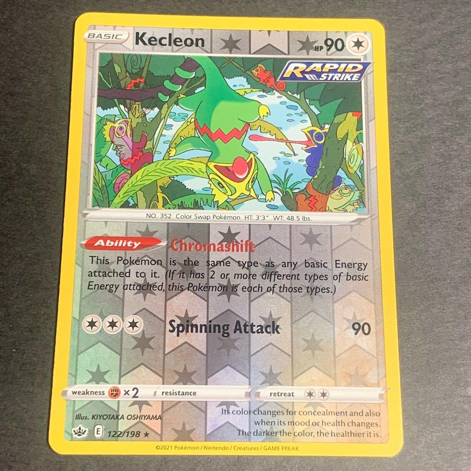 Pokemon S&S Chilling Reign REVERSE HOLO (R.) Kecleon 122/198 - Near Mint (NM)