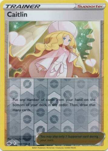 Pokemon - Caitlin - 132/198  - Reverse Holo - Chilling Reign - NM/M