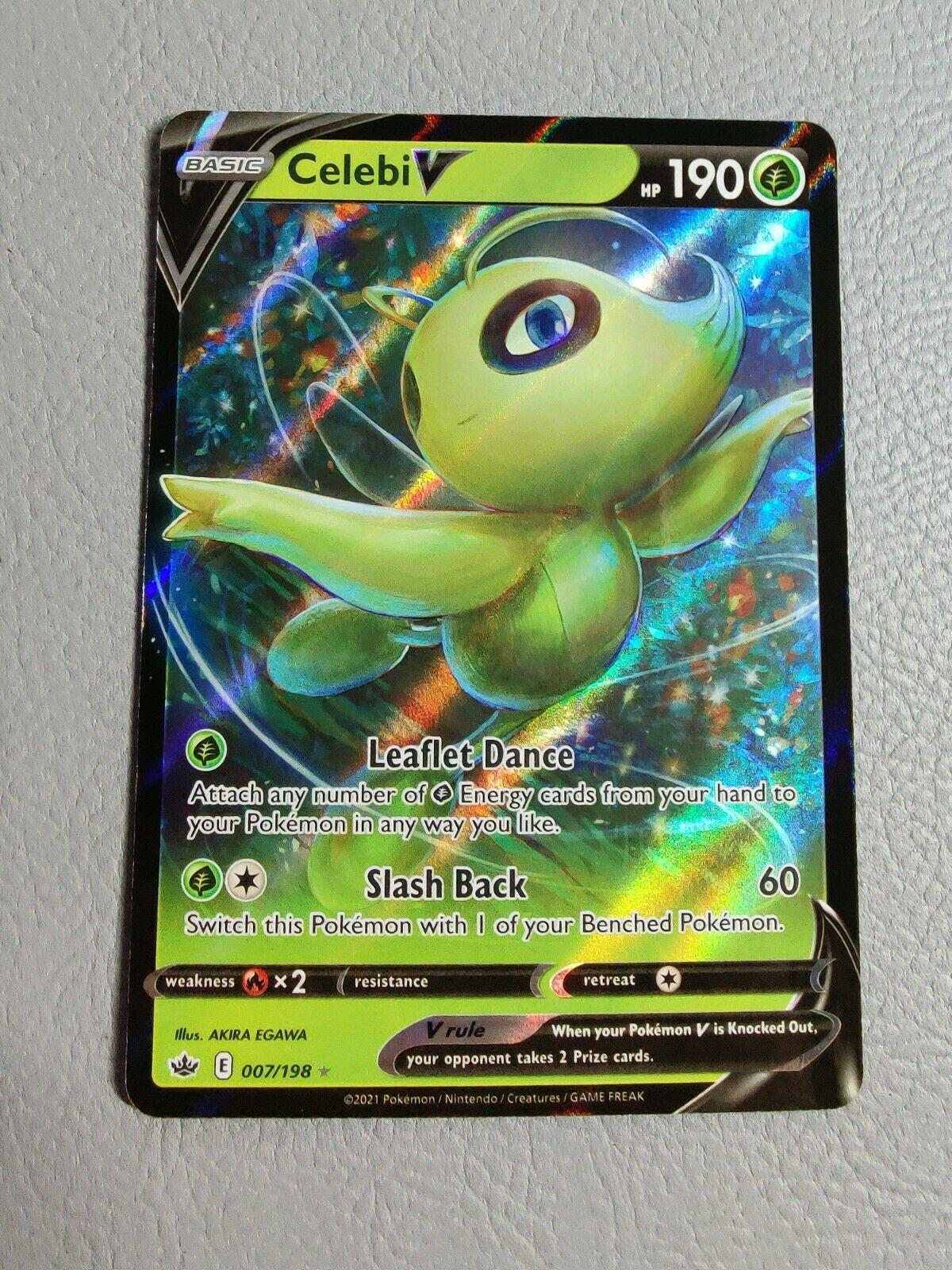Celebi V | MINT | Chilling Reign 007/198 | Pokemon