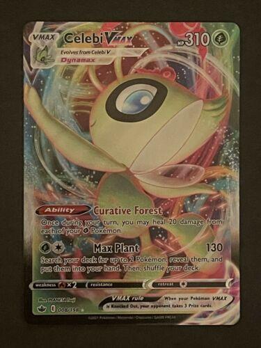 Pokemon CELEBI VMAX 008/198 Chilling Reign - ULTRA RARE HOLO - NM