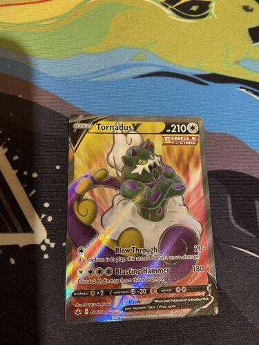 Pokemon Tornadus V 184/198 Full Art Chilling Reign NM/M