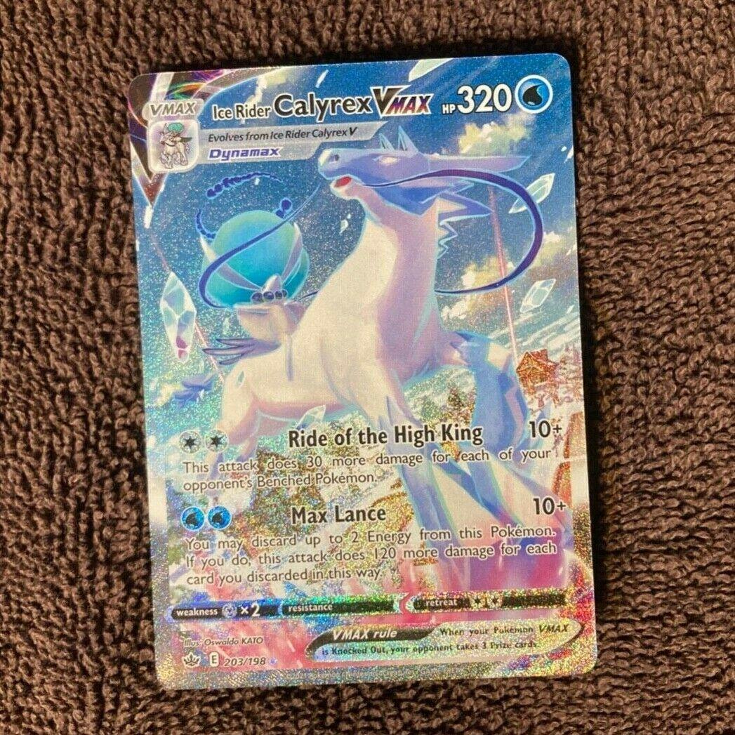 Pokemon Chilling Reign Ice Rider Calyrex 203/198 Vmax Full Art Ultra Rare