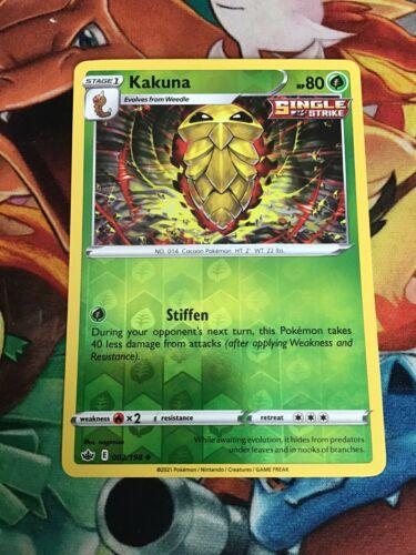 Kakuna 002/198 - Reverse Holo Uncommon - Chilling Reign
