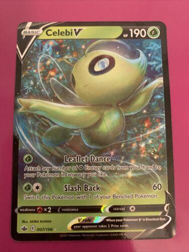 Celebi V 007/198 Full Art NM/M Chilling Reign Pokemon Card