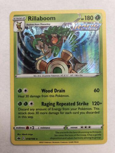 Rillaboom 018/198 Holo Rare  Pokemon Chilling Reign