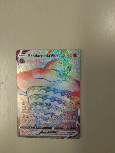 Pokemon Chilling Reign Sandaconda Vmax Rainbow Rare NM/M 206/198