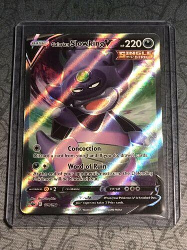 Galarian Slowking V 178/198 Full Art Chilling Reign Pokemon Card