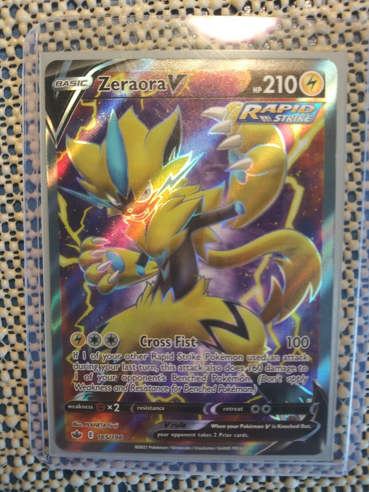 Zeraora V 165/198 Ultra Rare full art card Chilling Reign