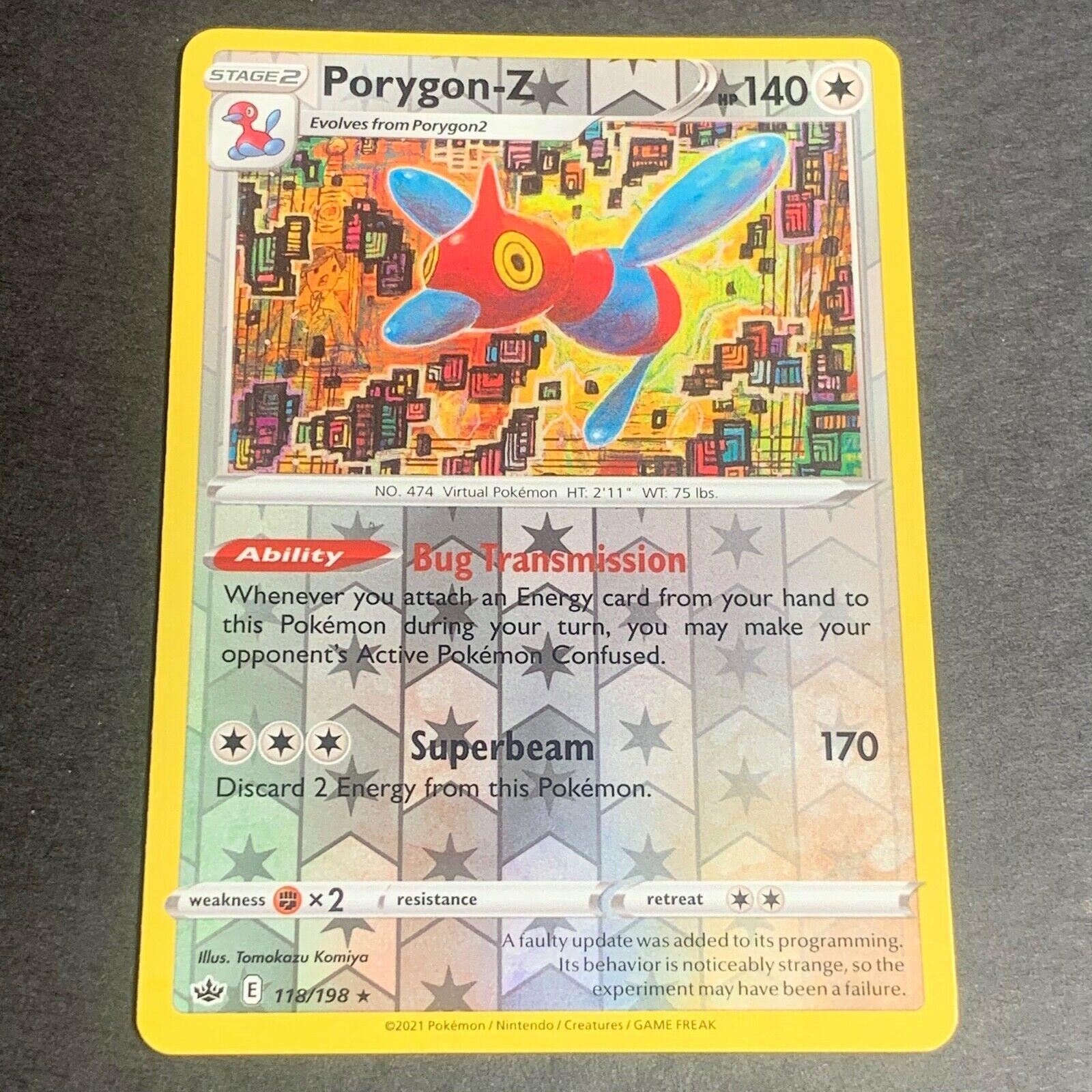 Pokemon S&S Chilling Reign REVERSE HOLO (R.) Porygon-Z 118/198 - Near Mint (NM)