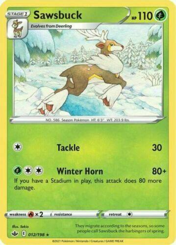 Pokemon - Sawsbuck - 012/198 - Rare - Chilling Reign - NM/M