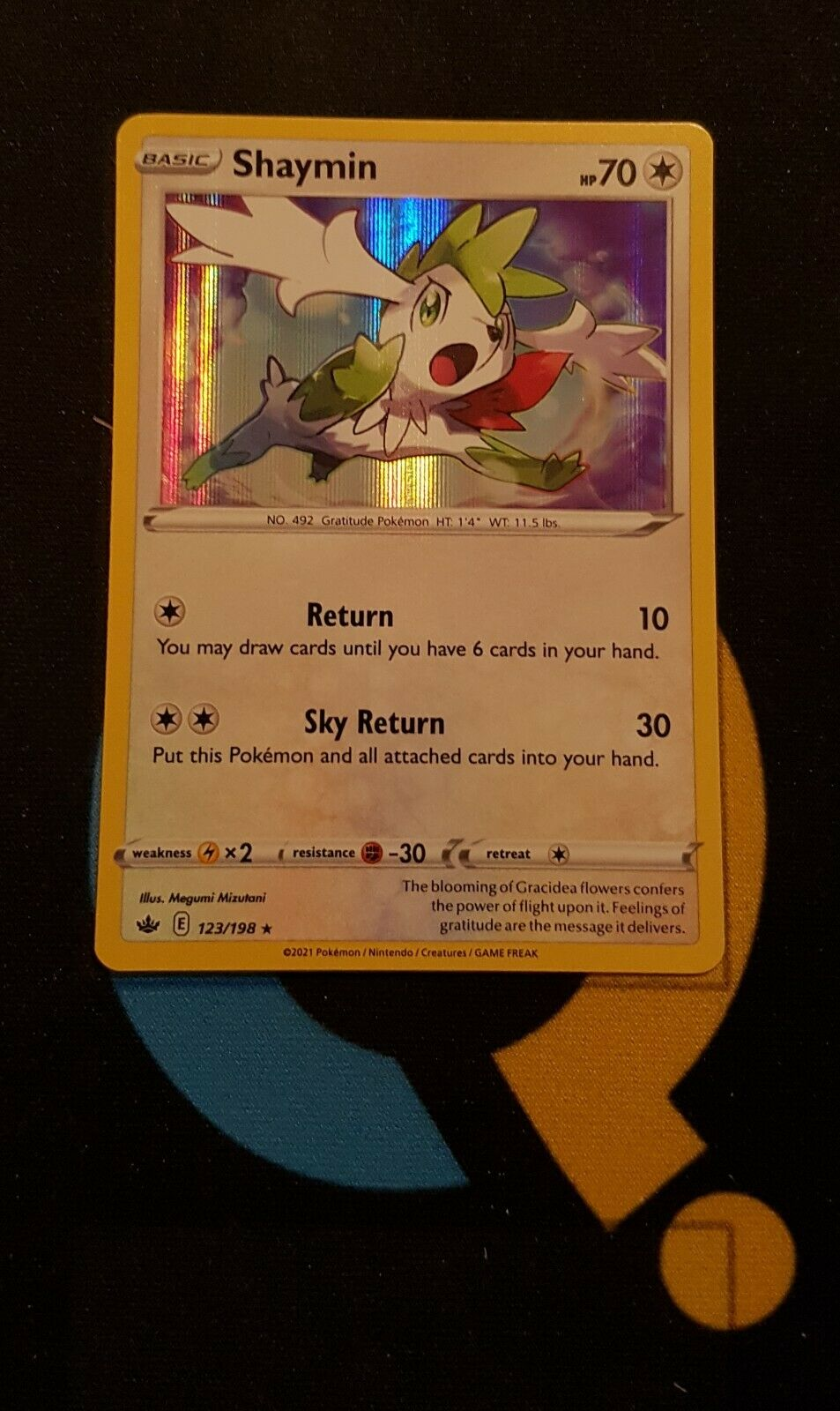 Shaymin - 123/198 Chilling Reign - Rare Holo - Pokemon
