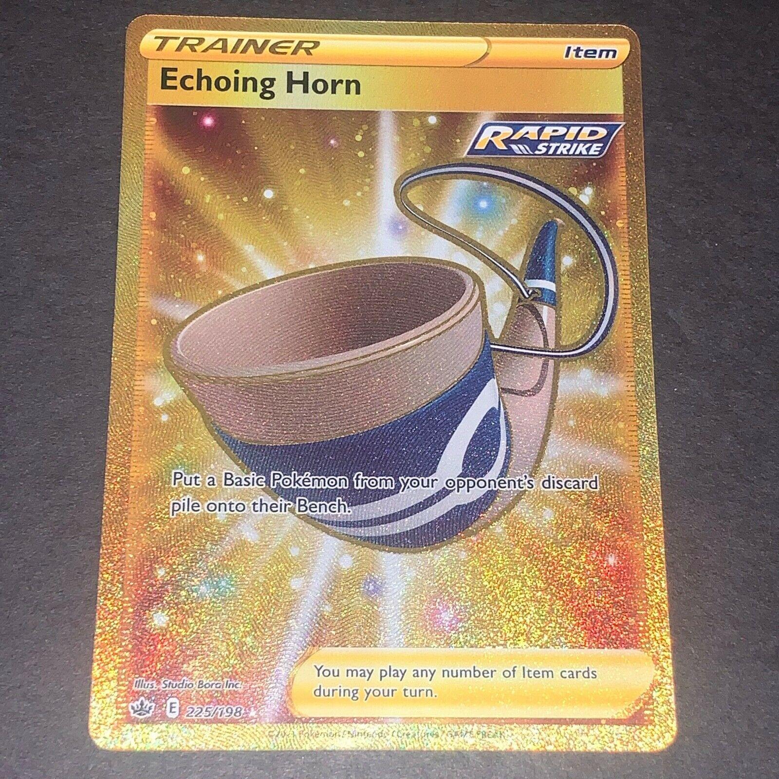Pokemon S&S Chilling Reign Set SECRET RARE Echoing Horn 225/198 - Near Mint (NM)
