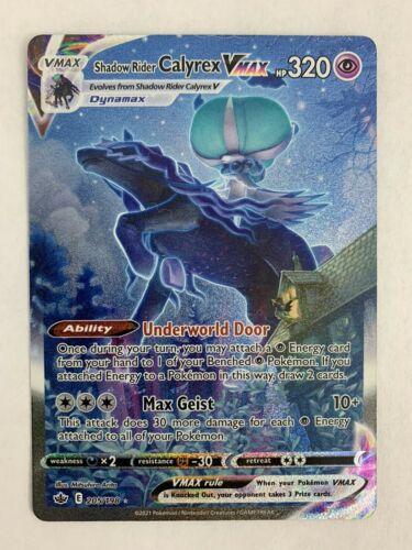 Shadow Rider Calyrex VMAX (Alternate Art Secret): Chilling Reign 205/198 PW