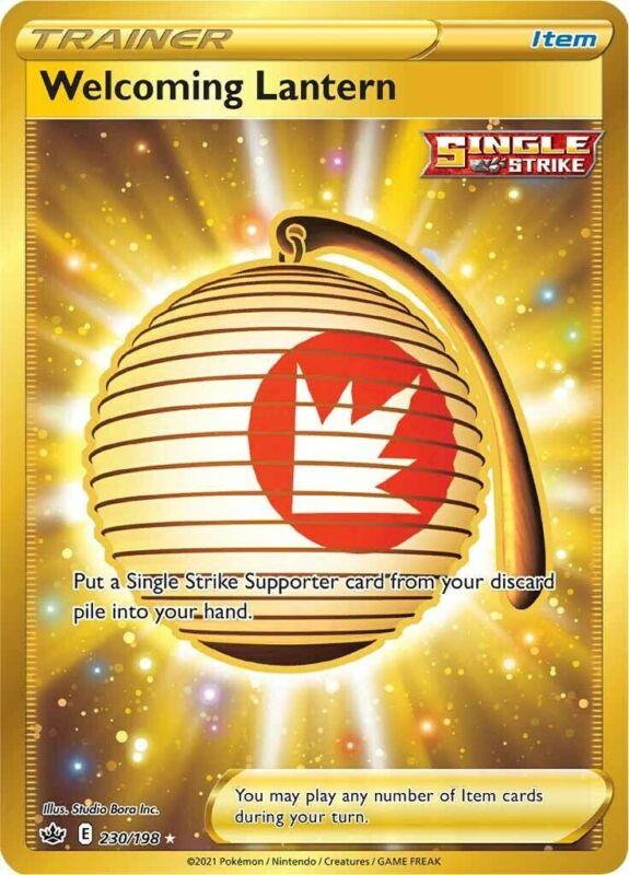 POKEMON TCG SS CHILLING REIGN : Welcoming Lantern 230-198 - SECRET RARE