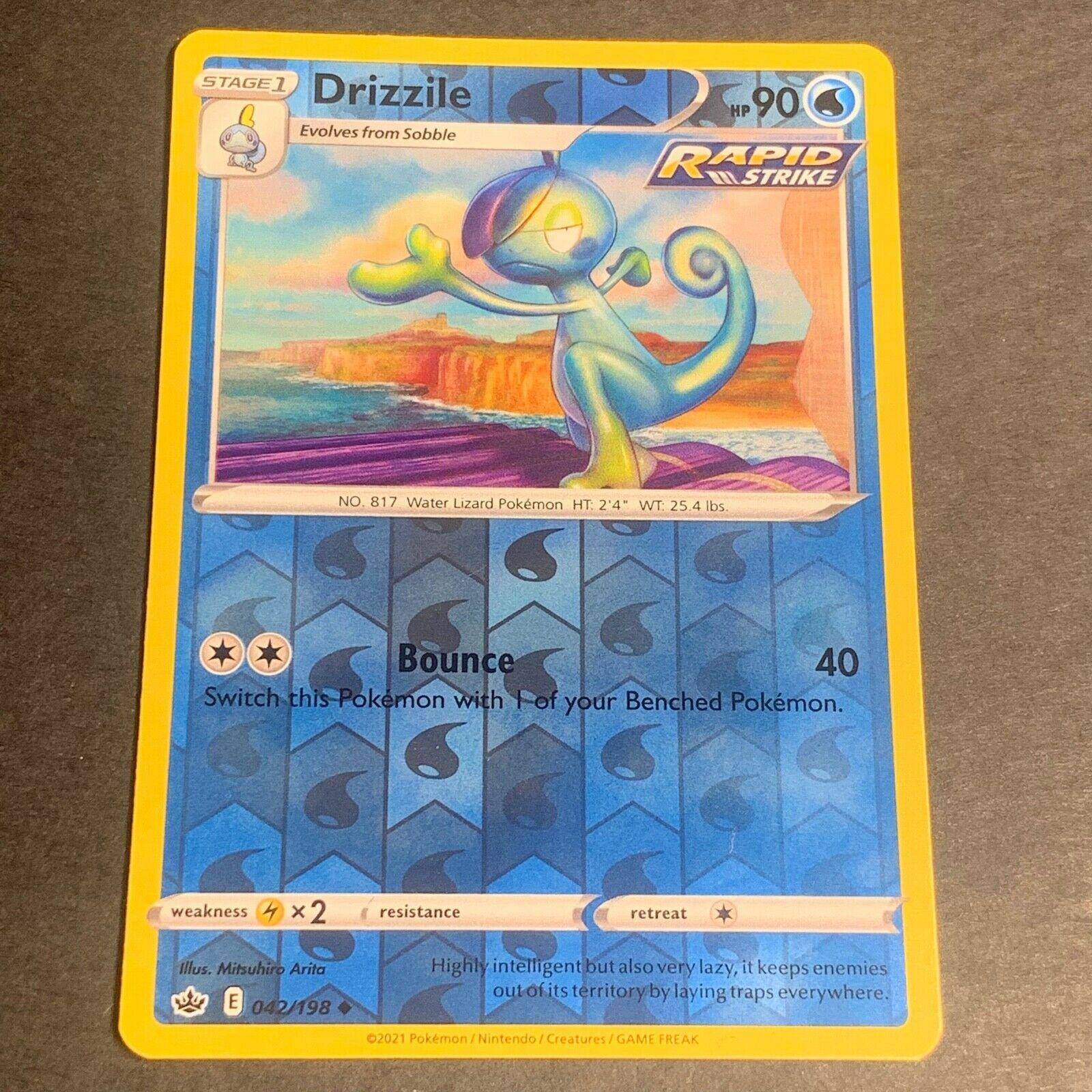 Pokemon S&S Chilling Reign REVERSE HOLO (Un.) Drizzile 042/198 - Near Mint (NM)