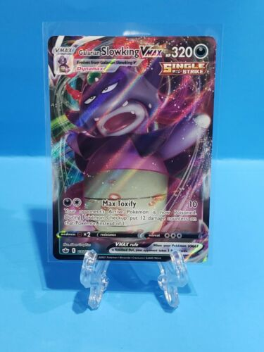Pokemon TCG Chilling Reign Galarian Slowking VMAX 100/198 Ultra Rare CLEAN!!