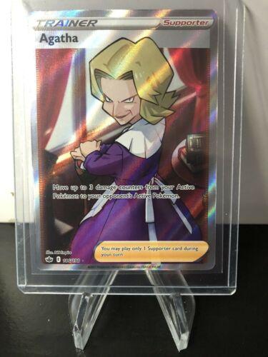 Pokemon Agatha 186/198 Full Art Ultra Rare Chilling Reign MINT