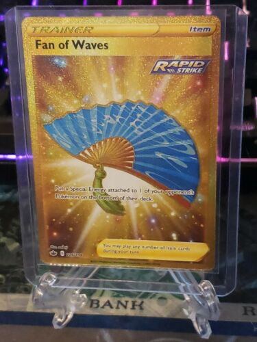 Pokemon Fan of Waves 226/198 Gold Secret Rare Chilling Reign FULL ART HOLO
