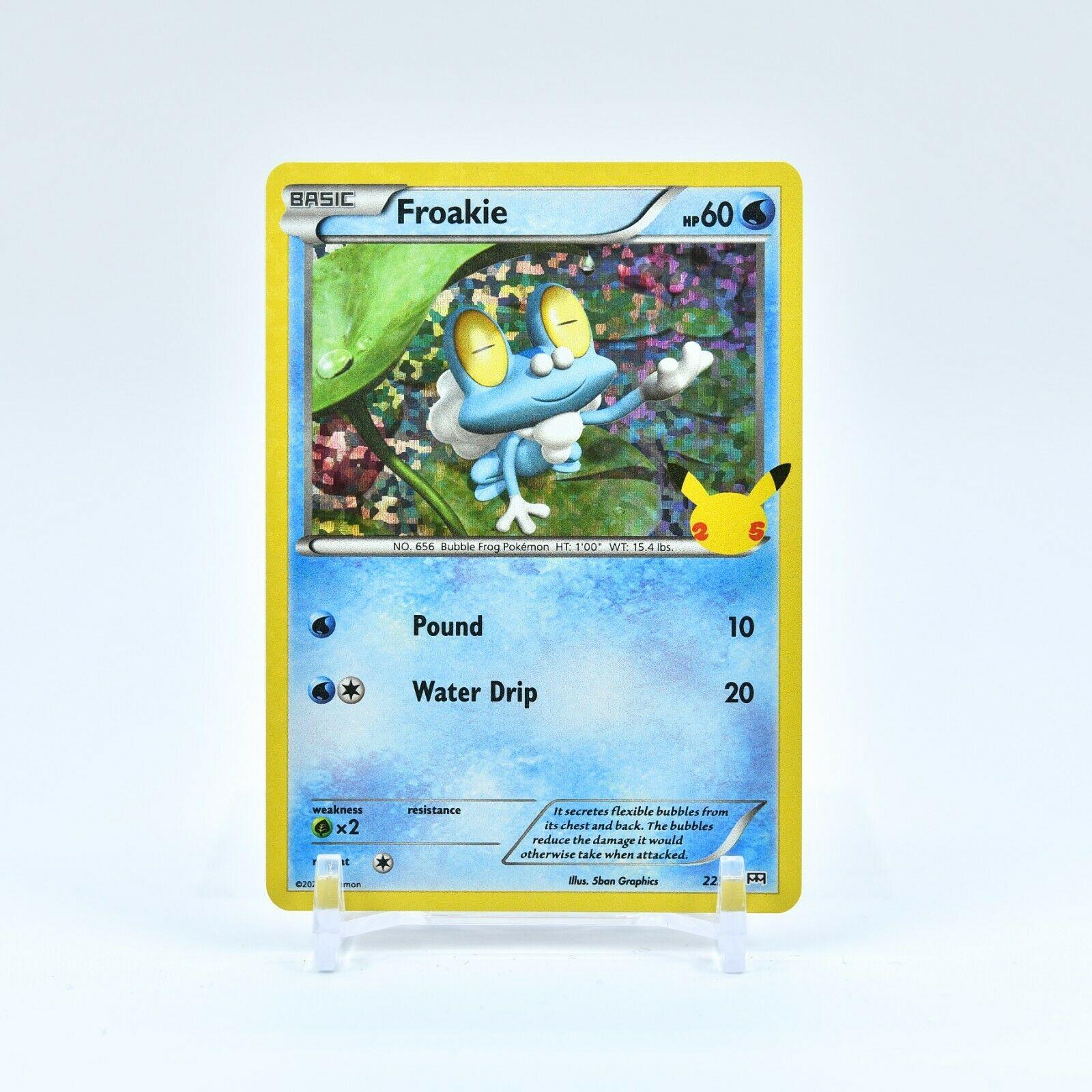 Froakie - 22/25 Mcdonald's 25th Anniversary Holo Starter Pokemon - NM/MINT
