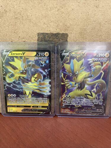 Chilling Reign Zeraora V Rapid Strike Full Art 165/198 and Zeraora V 053/198